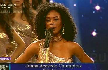 """Candidatas ao """"Miss Peru 2018"""" protestam contra a violência à mulher"""